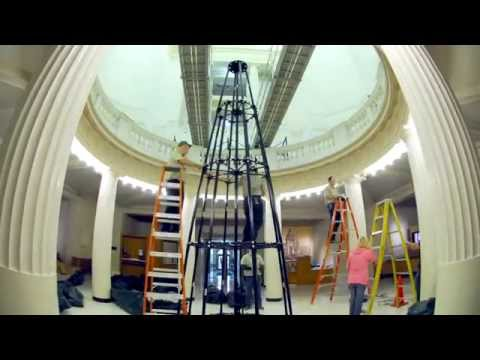 2014 Arkansas State Capitol Christmas tree time lapse set up