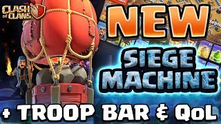 NEW SIEGE MACHINE!  STONE SLAMMER | CLASH OF CLANS WINTER UPDATE | TROOP BARS & QOL IMPROVEMENTS!