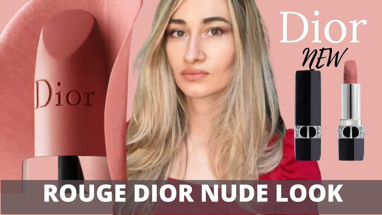 Nude Look New Rouge Dior Makeup Nude Look Lipstick 2021 || Swatches & Comparison || Feat. Wild Brown Palette - Youtube