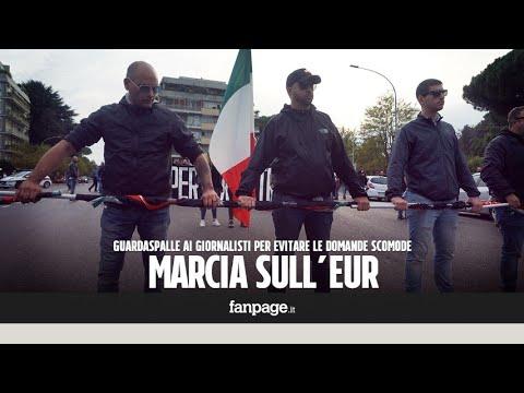 Forza Nuova marcia sull'Eur, guardaspalle e spintoni ai giornalisti per evitare domande scomode