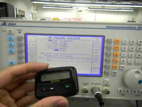 Aeroflex IFR 2944 POCSAG Paging Test