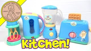 Just Like Home Kitchen Appliance Set - Toaster, Blender, Mixer & Coffee Kettle