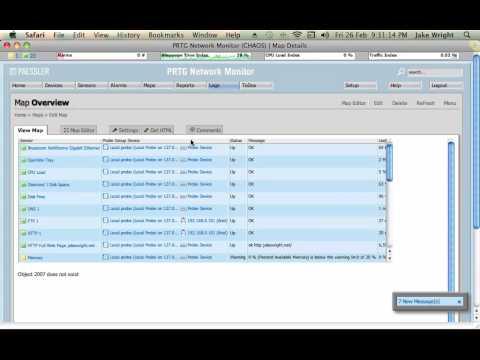 PRTG Tutorial - Adding Sensors and Maps