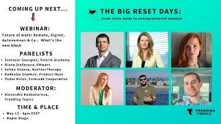 THE BIG RESET: Remote, Digital, Autonomous & Co.  What's the new black