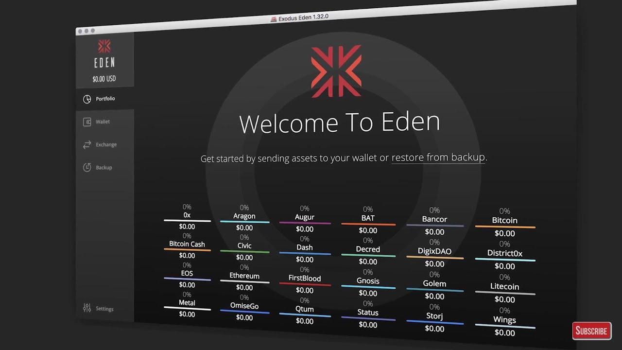 Exodus Eden Wallet