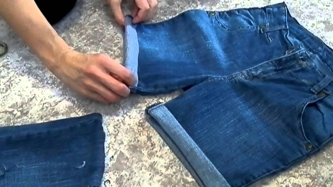 Как из джинсов сделать бриджи фото 466