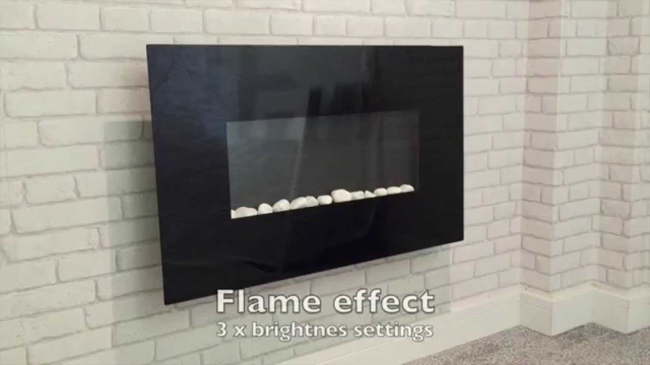 Wall Mounted Electric Fire Unique Fireplaces Youtube