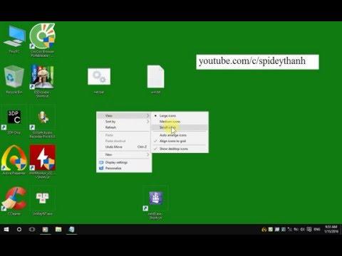Chỉnh Taskbar, Desktop, Background Trên Windows 10