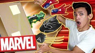 SUPER CAIXA MISTERIOSA DA MARVEL!! Hulk, Homem Aranha, Pantera Negra & Lego