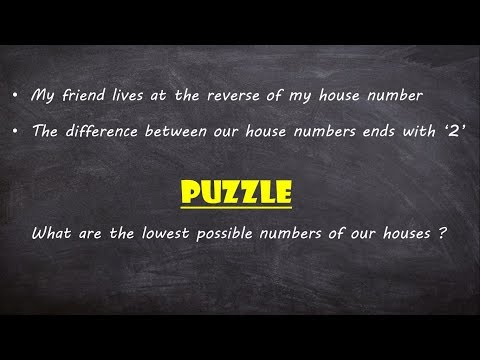 Can You Solve It In Your Mind Within 2 Minutes | Tricky House Numbers Puzzle