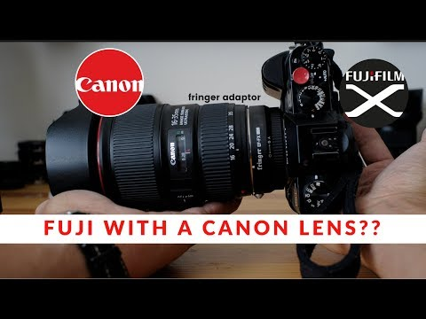 Night Photography with a Fuji Camera with a Canon 16-35mm lens!