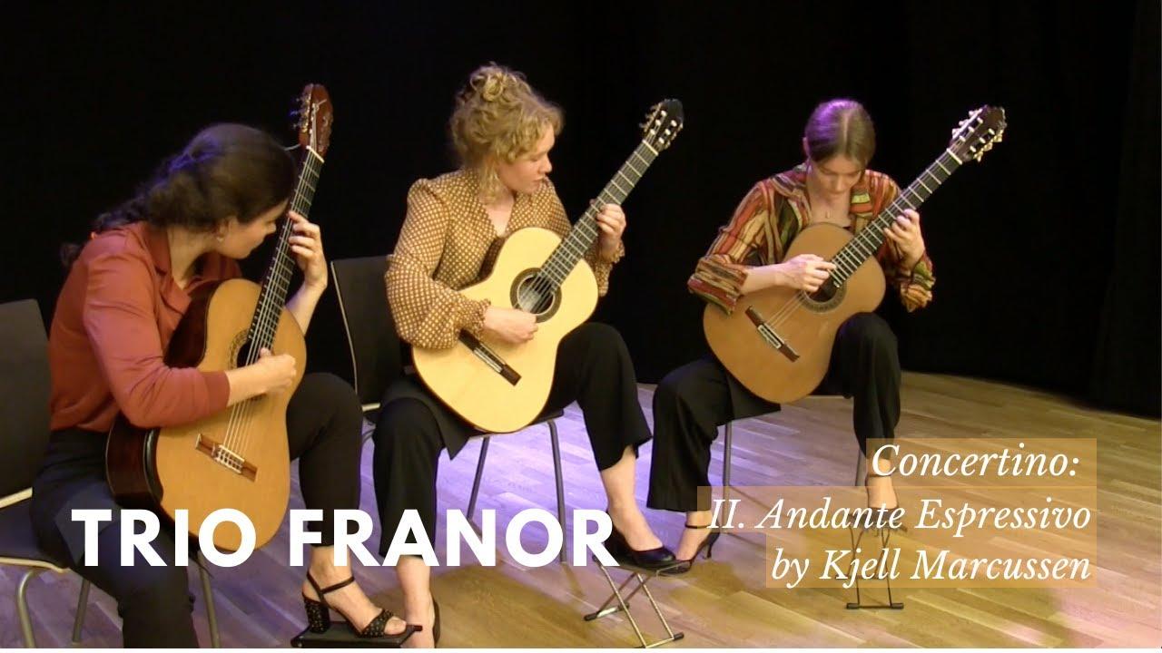 Trio Franor plays Concertino II. Andantino espressivo by Kjell Marcussen