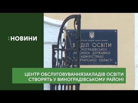 Центр обслуговування закладів освіти створять у Виноградівському районі