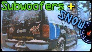 SUBWOOFER SNOW REMOVAL W/ Loud Sub BASS | Extreme Basshead w/ COLD AQ HDC4 Sub Woofer FLEX
