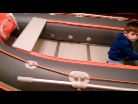 Разпаковка и обзор лодки ПВХ КOLIBRI 330 DSL (Белый пакет) УКРАИНА.