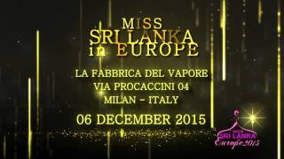 OFFICIAL TRAILER MISS SRI LANKA IN EUROPE 2015