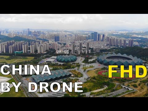 New suburb and stadium in Shenzhen China DJI Mavic Air 深圳龙岗大运城