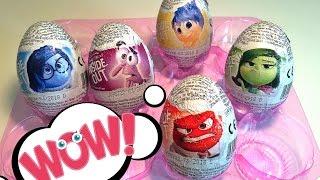 Inside Out Zaini Surprise Eggs Головоломка шоколадные яйца с сюрпризом Заини распаковка