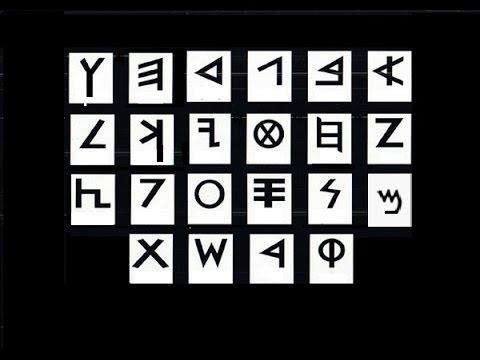 Ancient Hebrew Alphabet.