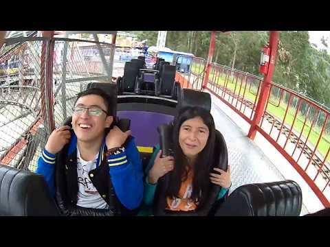 vulQano park Quito Ecuador.montaña rusa mas extras chevere recomendado