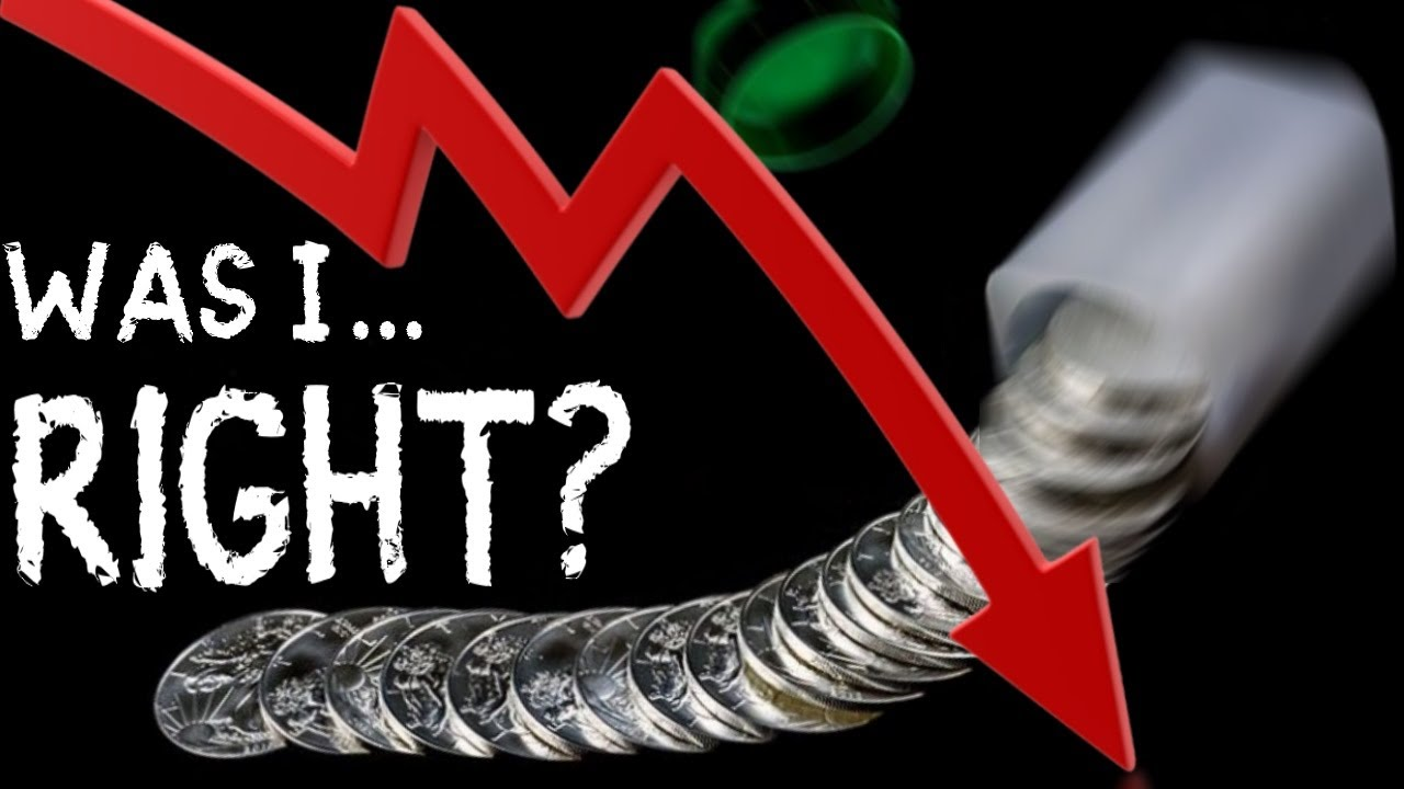 My Silver Price Drop Prediction May Be Right!  Will Silver Quickly Rebound?