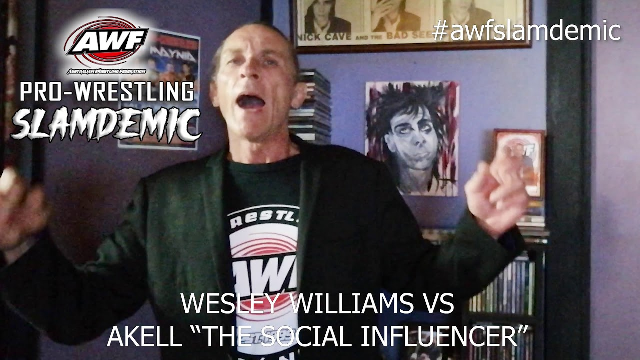 AWF Pro-Wrestling Slamdemic Match Card reveal with The Commish