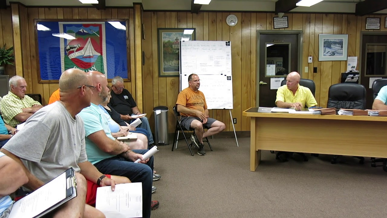 Peru Town Board Meeting  8-27-18