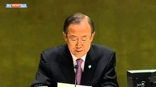 بان كي مون يُحذر من حرب أهلية طويلة في سوريا