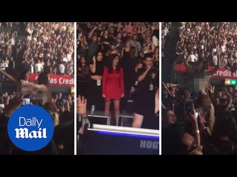 Kim Kardashian Flashed By Fans At Kanye Concert In Sydney - Daily Mail