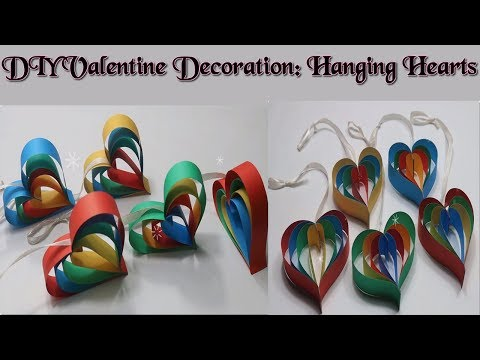 Hanging Hearts: Quick and Easy DIY Valentine Decoration 2018