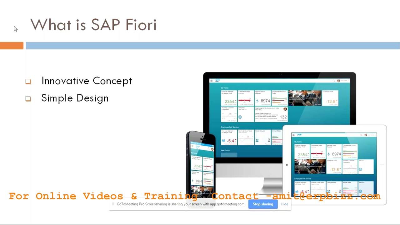 Fiori Online.Sap Fiori Online Training Youtube