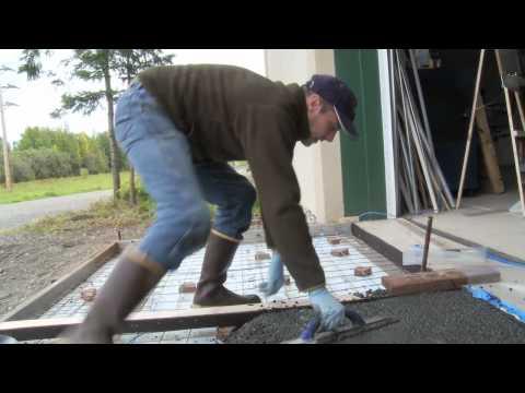 Geopolymer/ Garage apron pour at CCHRC