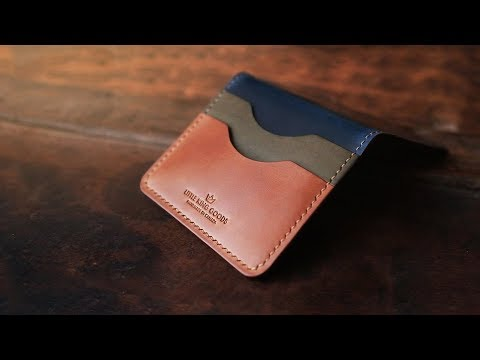 Making a LUXURY wallet from one of the MOST EXPENSIVE LEATHERS