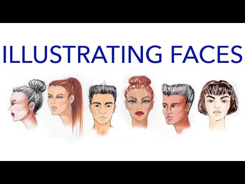 Fashion Faces Tutorial 3: Illustrating Using Multiple Media: Male and Female