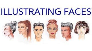 Fashion Faces Tutorial 3: Illustrating Using Multiple Media: Male and Female