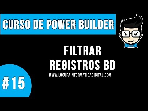 Curso de Programacion Power Builder #15 | Filtrar Registros desde un Data Windows