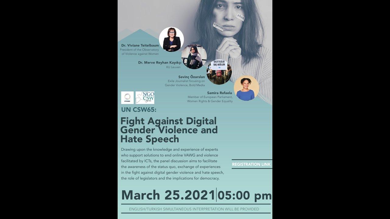 Webinar on digital gender violence and hate speech