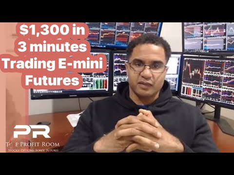 Live! How to Day Trade a Bullish Engulfing Bar For Profits  +$1,300 in 3 Min - E-mini Futures /NQ