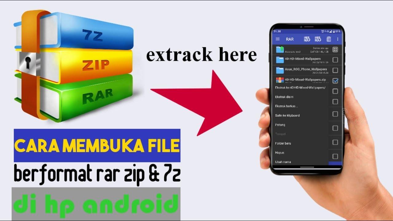 Cara Mengekstrak File Rar Zip Di Android Dengan Mudah Youtube