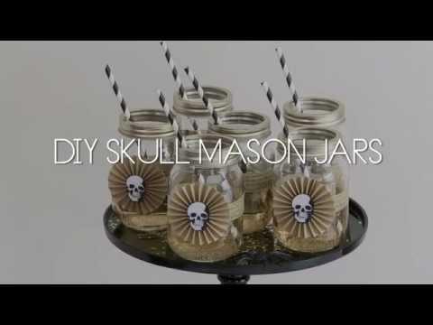 DIY SKULL MASON JARS