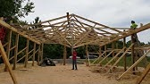 How To Set Posts To Build A Pole Barn Yourself DIY - YouTube