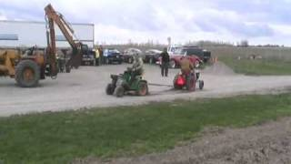 John Deere tractor tug of war with Rick's speedex Davidsfarmison[bliptv]now