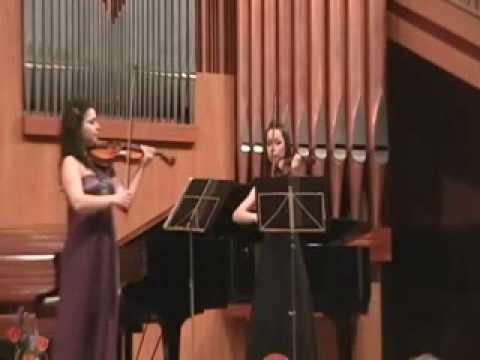 J.M. Leclair , sonata Nr. 5 for 2 violins in E minor