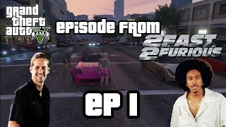 GTA 5 2FAST 2FURIOUS EP1 : BRIAN'S Nissan Skyline R34 Race and Bridge Jump ! - Mrjksaw