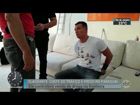 Chefe da maior facção criminosa do país é preso no Paraguai | SBT Brasil (19/07/18)