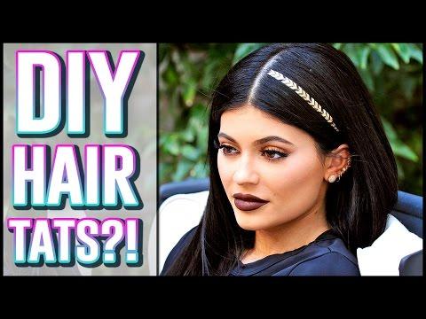 DIY Kylie Jenner Hair Tattoo Hack?!