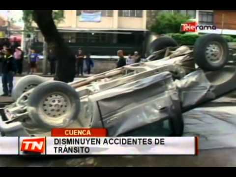 Disminuyen accidentes de tránsito