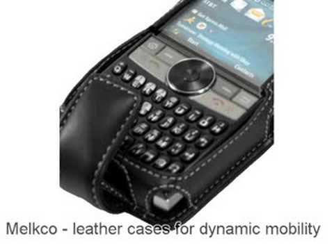 Melkco Tasche Leder Etui cuir ~Samsung SGH-I617/ Blackjack II - Flip Type (Black)