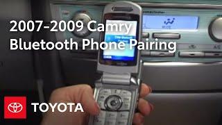 2007 - Камрі 2009 інструкції: Bluetooth® телефонів спарювання - JBL з 6-дисковий CD-чейнджер | Тойота