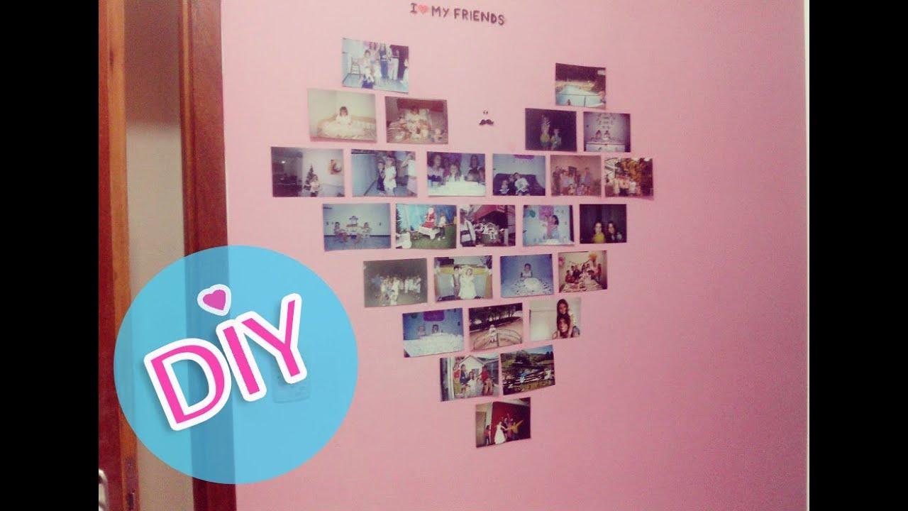 Decoração de quartos Como fazer colagem de fotos na  ~ Quarto Romantico Como Fazer
